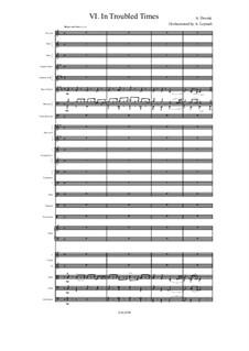 Из чешского леса, B.133 Op.68: No.6 In Troubled Times, for symphonic orchestra by Антонин Дворжак