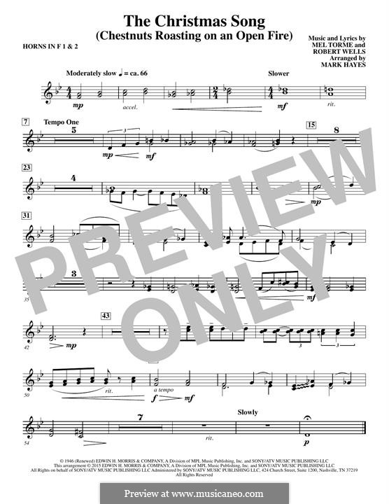 Choir Instrumental Pak version: F Horn 1,2 part by Mel Tormé, Robert Wells