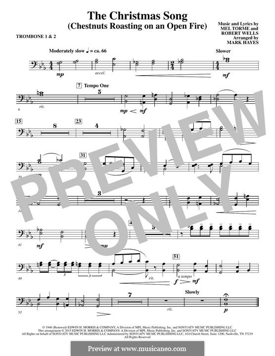 Choir Instrumental Pak version: Trombone 1,2 part by Mel Tormé, Robert Wells