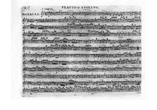 Три сонаты для клавесина, Op.41: Партия флейты или скрипки by Леопольд Кожелух