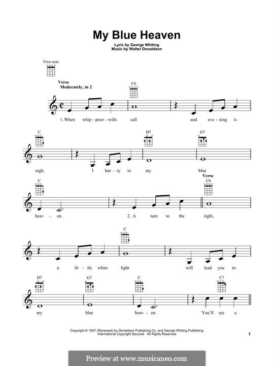 My Blue Heaven: Для укулеле by Уолтер Дональдсон