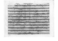Три сонаты для клавесина, Op.41: Партия виолончели by Леопольд Кожелух