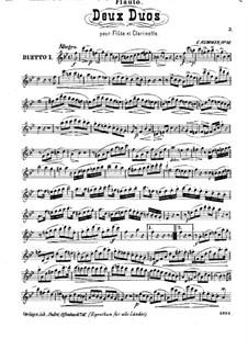 Два дуэта для флейты и кларнета, Op.46: Партия флейты by Каспар Куммер