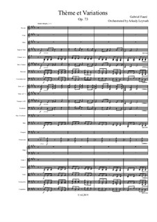 Тема с вариациями для фортепиано, Op.73: Version for symphonic orchestra by Габриэль Форе