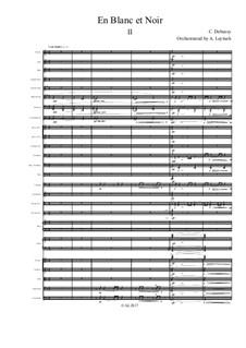По белым и черным, L.134: For symphonic orchestra – 2nd movement by Клод Дебюсси