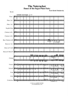 No.3 Танец феи Драже: For full orchestra by Петр Чайковский