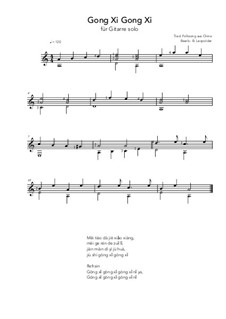 Gong Xi Gong Xi: For guitar solo (a minor) by folklore