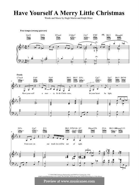 Piano-Vocal version: Для голоса и фортепиано или гитары (Frank Sinatra) by Hugh Martin, Ralph Blane