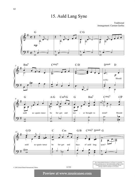 Auld Lang Syne, for Piano: Для одного исполнителя by folklore