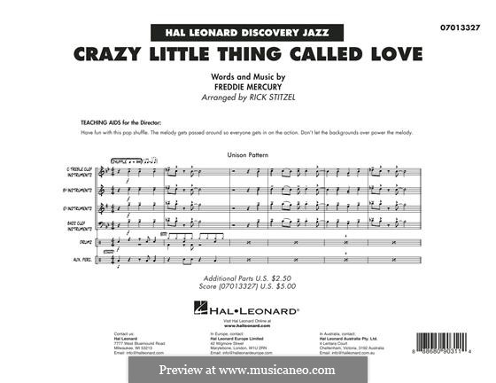 Crazy Little Thing Called Love (Queen): Conductor score (full score) by Freddie Mercury