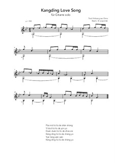 Kangding: For guitar solo (g minor) by folklore