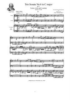 Trio Sonata No.6 in C major for Violin, Cello and Cembalo (or Piano), RV 1 Op.2: Trio Sonata No.6 in C major for Violin, Cello and Cembalo (or Piano) by Антонио Вивальди