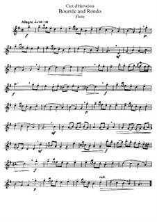 Бурре и Рондо: Переложение для флейты и фортепиано – сольная партия by Луи де Кед'Эрвелуа
