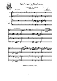Trio Sonata No.7 in C major for Violin, Cello and Cembalo (or Piano), RV 8 Op.2: Trio Sonata No.7 in C major for Violin, Cello and Cembalo (or Piano) by Антонио Вивальди
