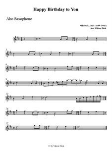 С днем рождения тебя: For alto saxophone playAlong by Милдред  Хилл