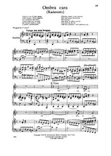 Radamisto, HWV12a: Ombra cara, Low Voice by Георг Фридрих Гендель