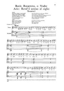 Sosarmes, King of Media, HWV 30: Rend'il sereno al ciglio, Low Voice by Георг Фридрих Гендель