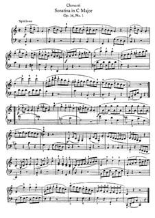 Сонатина No.1: Для фортепиано (с аппликатурой) by Муцио Клементи