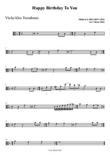 С днем рождения тебя: For viola playAlong by Милдред  Хилл