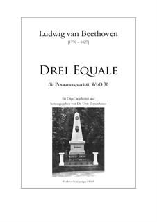 Three Equale, WoO 30: For organ by Людвиг ван Бетховен