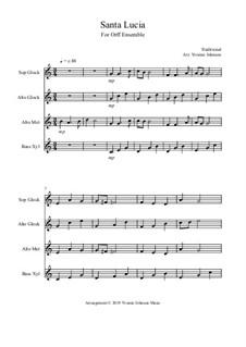 Санта Лючия: For orff ensemble by folklore