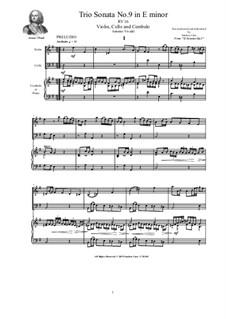 Trio Sonata No.9 in E minor for Violin, Cello and Cembalo (or Piano), RV 16: Trio Sonata No.9 in E minor for Violin, Cello and Cembalo (or Piano) by Антонио Вивальди