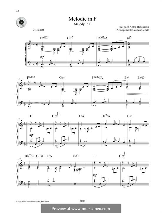 Две мелодии, Op.3: Melody No.1 by Антон Рубинштейн