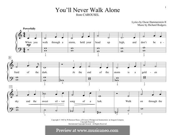 You'll Never Walk Alone (from Carousel): Для фортепиано by Richard Rodgers