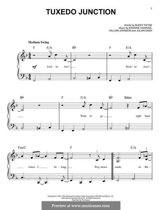 Tuxedo Junction: Для фортепиано by Buddy Feyne, Erskine Hawkins, Julian Dash, William Johnson