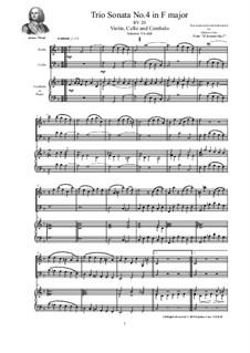 Trio Sonata No.4 in F major for Violin, Cello and Cembalo (or Piano), RV 20 Op.2: Trio Sonata No.4 in F major for Violin, Cello and Cembalo (or Piano) by Антонио Вивальди