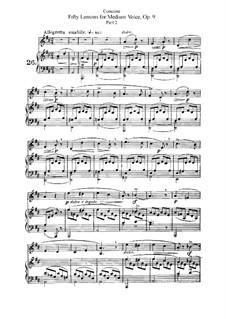 Для среднего голоса: No.26-50 Тетрадь II by Джузеппе Конконе