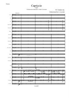 Каприччио для фортепиано, TH 130 Op.8: Version for symphonic orchestra by Петр Чайковский
