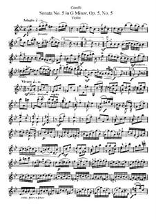 Соната No.5: Сольная партия by Арканджело Корелли