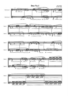 Duos for 2 Bass clarinet, Volume 1: Duo No.1, MVWV 938 by Maurice Verheul