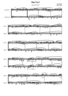 Duos for 2 Bass clarinet, Volume 1: Duo No.3, MVWV 940 by Maurice Verheul