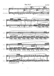 Duos for 2 Bass clarinet, Volume 1: Duo No.5, MVWV 942 by Maurice Verheul