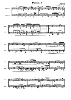 Duos for 2 Bass clarinet, Volume 1: Duot No.10, MVWV 947 by Maurice Verheul