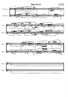 Duos for 2 Bass clarinet, Volume 1: Duo No.11, MVWV 948 by Maurice Verheul