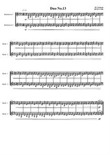 Duos for 2 Bass clarinet, Volume 1: Duo No.13, MVWV 950 by Maurice Verheul