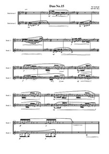 Duos for 2 Bass clarinet, Volume 1: Duo No.15, MVWV 952 by Maurice Verheul