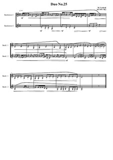 Duos for 2 Bass clarinet, Volume 1: Duo No.25, MVWV 962 by Maurice Verheul