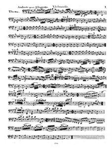 Тема с вариациями для струнного трио, Op.3: Партия виолончели by Nicolas Baldenecker