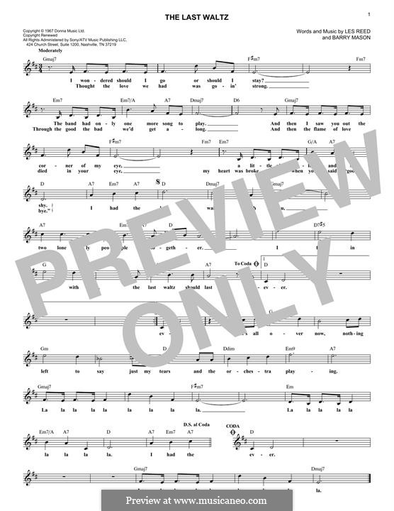 The Last Waltz: Мелодия by Barry Mason, Les Reed
