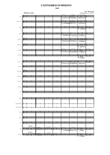 Unfinished Symphony (1860): Allegro assai (1st movement), Scherzo (2nd movement) by Модест Мусоргский