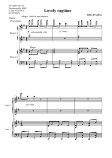 Lovely Ragtime: Lovely Ragtime by Helios D'Andrea
