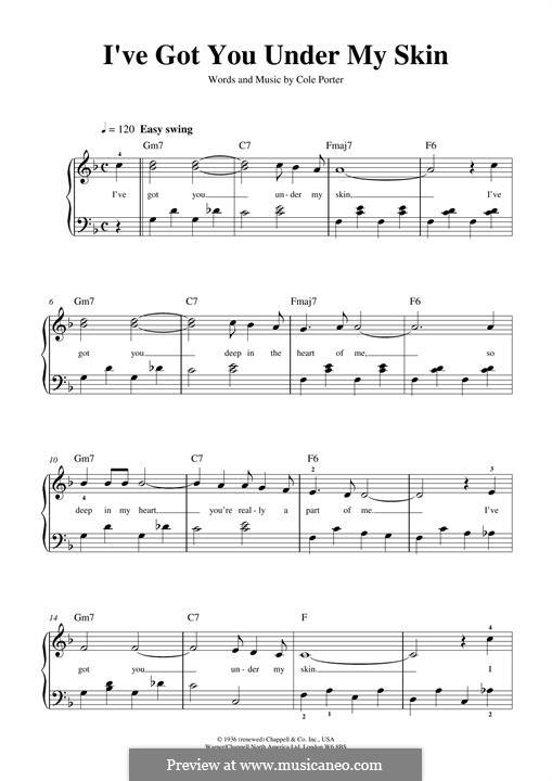 I've Got You under My Skin: Для фортепиано by Кол Портер