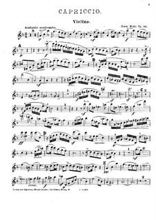 Каприччио фа мажор для фортепианного квартета, Op.43: Партия скрипки by Hermann Mohr