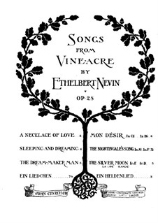Songs from Vineacre, Op.28: No.4 The Nightingale's Song by Ethelbert Woodbridge Nevin