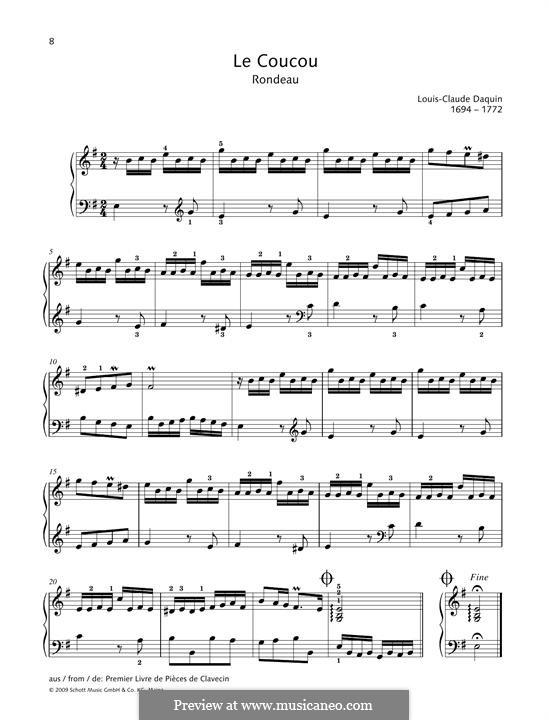 Кукушка: Для фортепиано by Луи Клод Дакен
