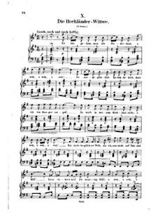 No.10 Вдова горца: Клавир с вокальной партией (немецкий текст) by Роберт Шуман